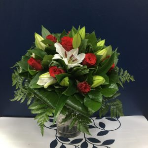Bouquet de roses et de lys