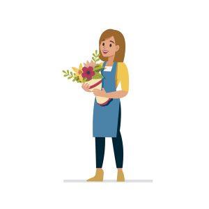 Retrait des fleurs en magasin